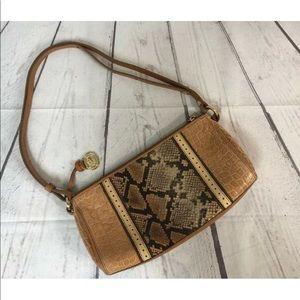 Brahmin Tan Snake Leather shoulder Bag Purse